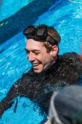 Stock Photo of Happy freediver after a Static Performance