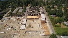New building in construction in neighborhood - Bainbridge Island Stock Footage