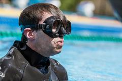 MONTREAL, CIRCA JUNE 2014 - Two Hot Spring Days of Freediving Competition at  - stock photo
