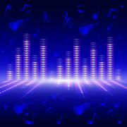 Voice-frequency equalizer. - stock illustration