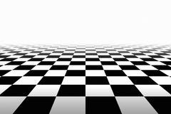 Checkered Background In Perspective Stock Illustration