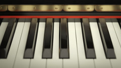 Black And White Piano Keys Stock Footage