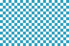 Blue seamless pattern chessboard Stock Illustration