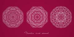Mandala. Ethnic decorative elements Indian, Islam, arabic motifs Stock Illustration