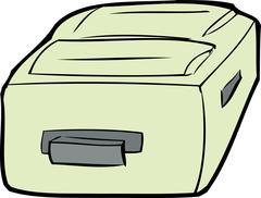 Single Cartoon Suitcase - stock illustration