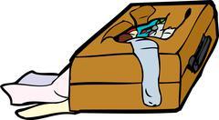 Stock Illustration of Damaged Luggage