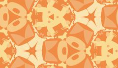 Repeating Orange Abstract Wallpaper - stock illustration