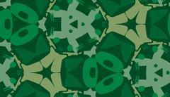 Repeating Green Abstract Wallpaper - stock illustration