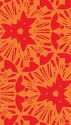 Orange Starburst Repeating Pattern Stock Illustration