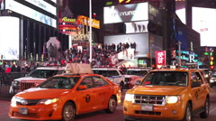 Downtown Times Square New York City Traffic 4k Stock Footage