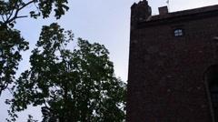 Teutonic castle in Nidzica, Poland Stock Footage