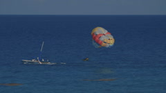 Parasailing From Afar Stock Footage