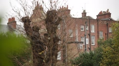 English City flats: traditional English Architecture Stock Footage