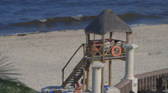 Life Guard Tower Stock Footage