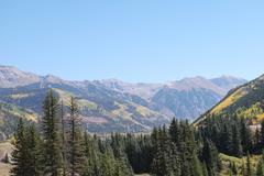 Scenic mountain landscape in Colorado - stock photo
