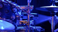 Man Drumming on Stage at Concert Stock Footage