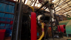 Drilling mud pump station Stock Footage
