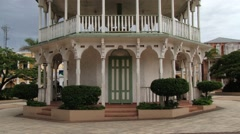 Historical building at the central square of Puerto Plata, Dominican Republic. Stock Footage