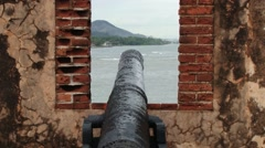 View from San Felipe Fort to the seaside in Puerto Plata, Dominican Republic. Stock Footage