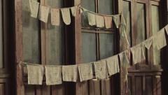 Buddhist prayer flags timelapse. Stock Footage