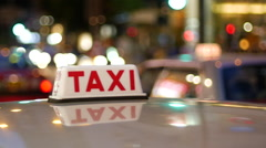 Taxi on the streets of Hong Kong Stock Footage