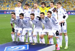 FC Dynamo Kyiv players pose for a group photo Stock Photos
