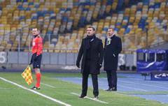 FC Dynamo Kyiv manager Serhiy Rebrov Stock Photos