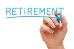 Retirement Blue Marker Stock Photos