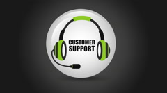Customer support icons, Video Animation Stock Footage