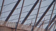 Modern architecture industrial warsaw national stadium Stock Footage