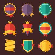 Stock Illustration of Modern flat design badges collection