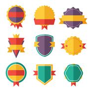 Modern flat design badges collection Stock Illustration