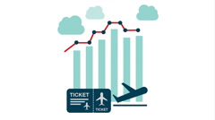 Travel Statistics graphic design, Video animation Stock Footage