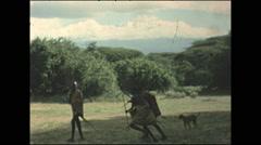 Vintage 16mm film, 1977, Kenya, 1977 Masai tribe kids Stock Footage