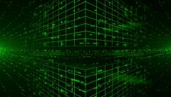 Abstract digital background with green laser rays. Light Show. Looped. Stock Footage