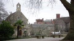 Reading prison an the church in England, Europe Stock Footage