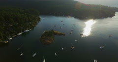 Tiny Island in the bay Stock Footage