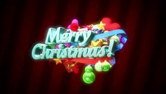 animated merry christmas text - stock footage