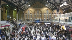 Liverpool street station in London at rush time Stock Footage
