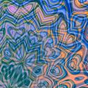 Stock Illustration of Abstract delicate blue background. Bright swirl art. Pattern in odd style.