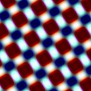 Blurry red blue rectangles isolated on white. Modern blur effects. Soft pattern. - stock illustration