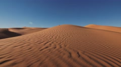 Sahara Desert landscape, wonderful dunes early in the morning Stock Footage