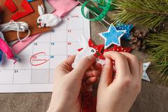 Preparation for the coming Christmas Stock Photos
