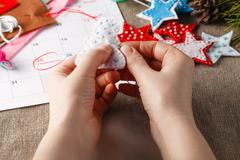 Preparation for the coming Christmas - stock photo