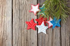 Christmas colored felt decoration Stock Photos