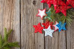 Christmas colored felt decoration - stock photo