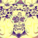 Stock Illustration of Bright psychedelic skull fractal. Insane mad splat. Unreal magic style. Desig