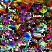 Stock Illustration of Very bizarre and chaotic clutter. Modern abstract art. Dirty colour pattern.