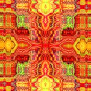 Psychedelic stains background. Old cyber style. Red fabric pattern. Mad art. - stock illustration