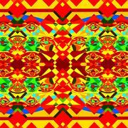 Colorful psychedelic background pattern. Modern digital art. Design in frame. Piirros
